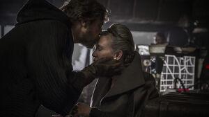 Luke kisses Leia