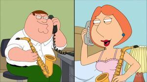 Peter calling Lois