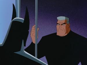 Bruce hangs suit