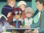 Daisuke, Ken, Hikari, Takeru and Kyo with Ken's father