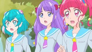 STPC39 Lala, Madoka and Hikaru are shocked to see their principal as a Nottorei