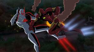 Ultron and Iron Man's showdown