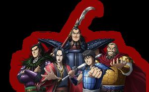 Kingdom Anime Characters Banner
