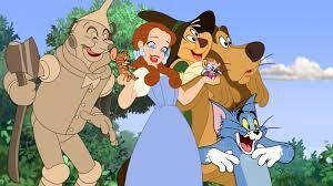 Tin Man, Jerry, Dorothy, Tuffy, Tom, Scarecrow and Cowardly Lion