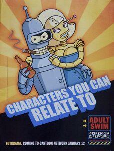 Futurama Adult Swim Promo Poster