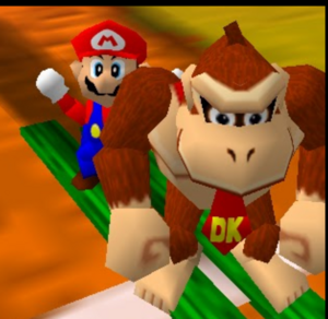 Mario party 64 dk and mario in the desert