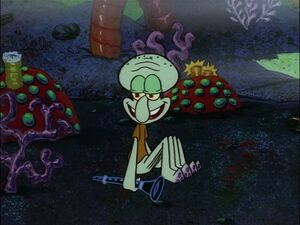 Squidward is now alone (Ancient time)