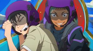 Edamura & Aby cockpit
