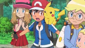 PKMXYEP54 - Ash Gives Serena Protection