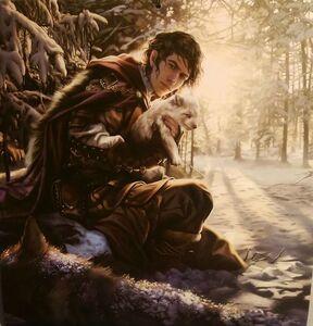 Jon-snow-finding-little-ghost
