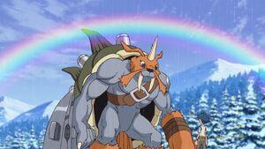 Zudomon & Joe with Rainbow