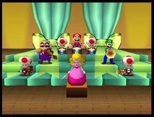 Mario party 64 mario bandstand