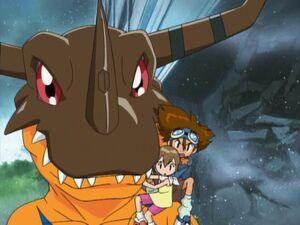 Taichi, Hikari & Greymon (01)