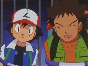 Ash and Brock are Team Rocket's Prisoners
