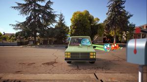 Gumball And Darwin Fall Off The Van