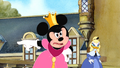 Minnie Mouse putting her foot down as she stands up to Pete