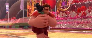 Ralph and Vanellope hugged