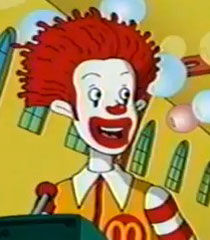The wacky adventures of ronald mcdonald character