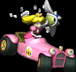 Princess Peach Spiny Shell Artwork - Mario Kart DS