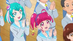 STPC41 Lala and Hikaru are happy for Madoka
