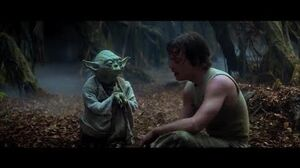 """Empire Strikes Back Yoda training Luke part 3 """"Try not. Do. Or do not. There is no try"""