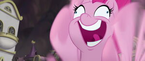 Pinkie's crazy happy face