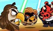 Qui Gon Jinn and Obi Wan Kenobi Birds vs. Darth Maul Pig