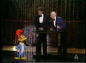 Woody Woodpecker in the 51st Academy Awards with Robin WIlliams and Walter Lantz