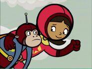 Wordgirl and her monkey Captin Huggy Face