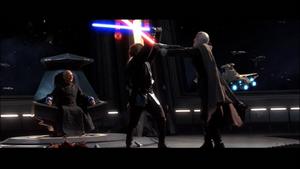 Anakin parries