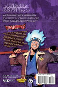 My Hero Academia Vigilantes Manga Volume 8 Back Cover