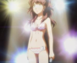 Rise wearing bikini swimsuit