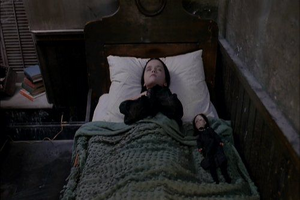 Sleeping Wednesday Addams