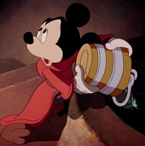 Mickey Mouse longing to be great sorcerer