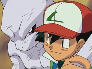 Ash and Mewtwo