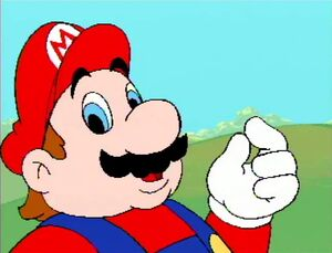 Mario They Pinch Back