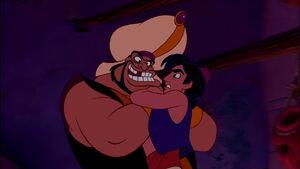 Razoul grabs Aladdin