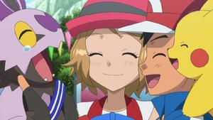 Ash, Serena, and Noibat