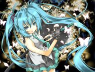 Hatsune Miku Vocaloid anime girl music Megurine Luka video game beauty beautiful lovely sweet cute humanoid green hair tail long character 1600x1200 (1)