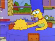 Marge comforting Lisa Simpson