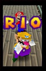 Mario party 2 64 wario and mario in the rail mine