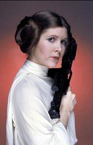 Princess Leia Large Gun Close