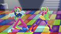 Rainbow Dash and Lemon Zest on dance floor EGS1