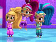 Shimmer shine and leah with rainbow hair