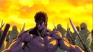 Kenshiro facing Jugai's army