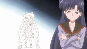Sailor moon crystal act 38 rei disses usagi