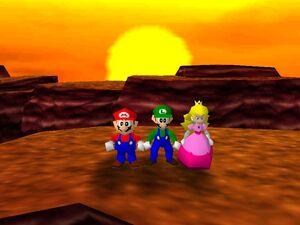 Mario party 64 mario luigi and peach