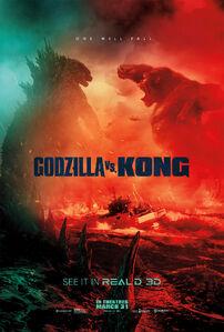 Godzilla vs. Kong official RealD 3D poster
