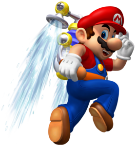 Mario and Hover Nozzle SMS