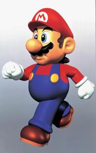 Mario Walking Artwork - Super Mario 64